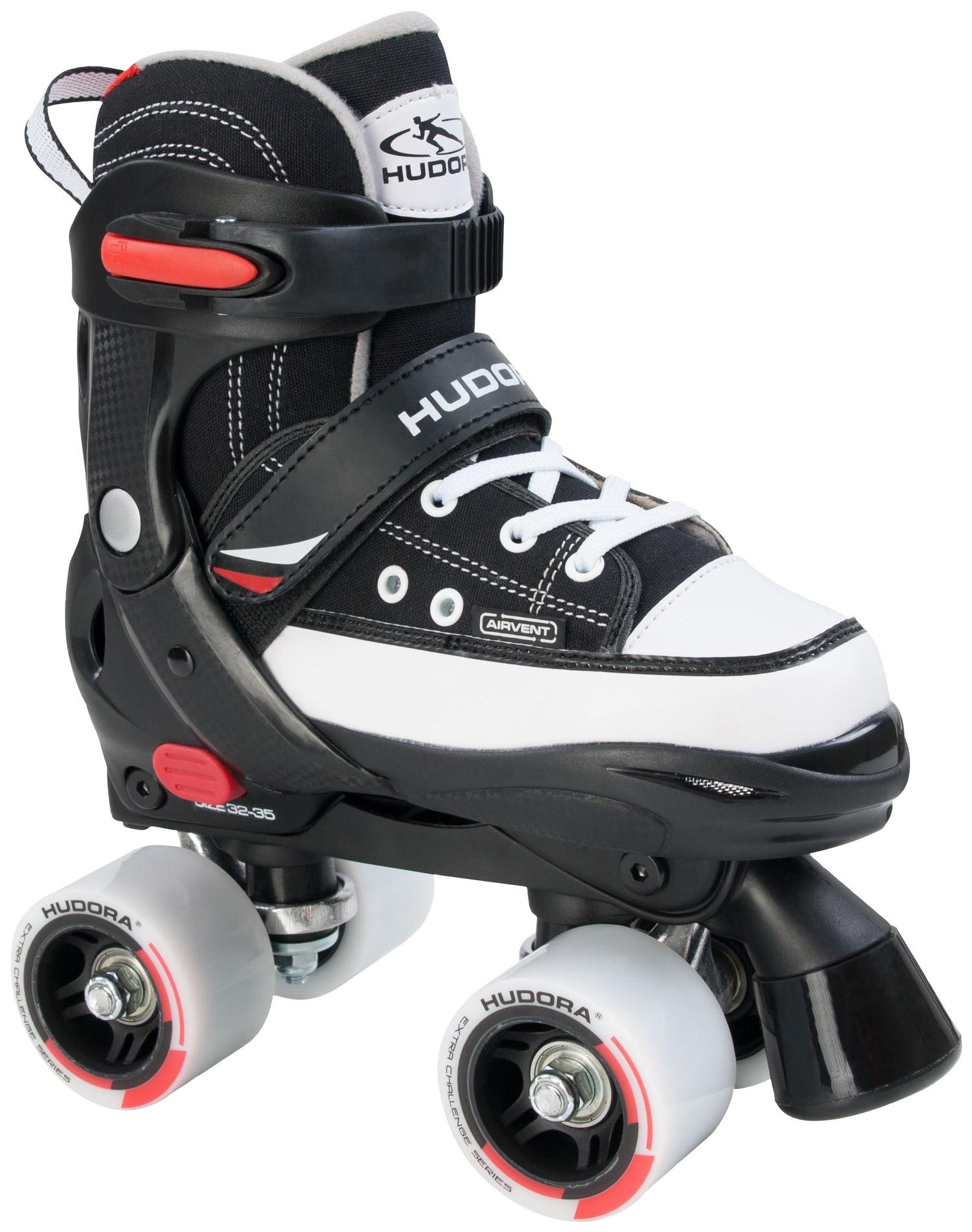 Купить Роликовые коньки раздвижные детские Hudora Roller Skates Черные р.32-35,