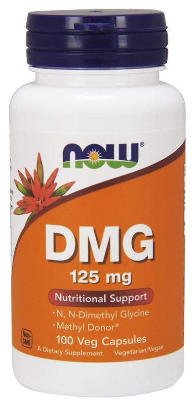 Купить Добавка для здоровья NOW Dmg 100 капс. натуральный