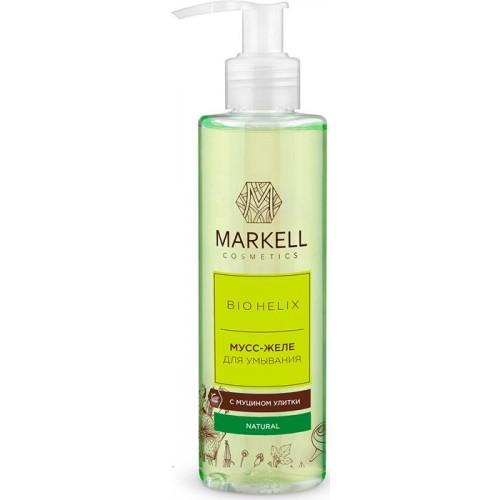 Купить Мусс-желе для умывания Markell Bio Helix с муцином улитки 200 мл