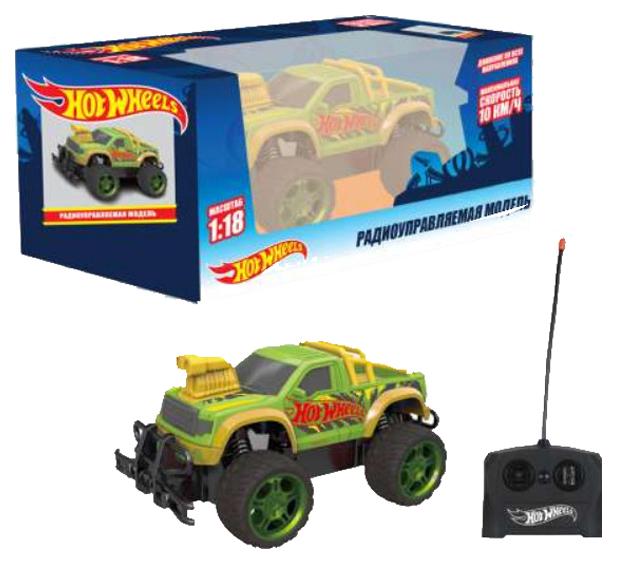 Купить Радиоуправляемая машинка 1 Toy Hot Wheels Внедорожник Т14169 Зеленый, Радиоуправляемые машинки