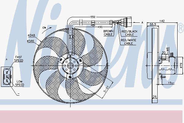 Вентилятор охлаждения двигателя NISSENS 85683