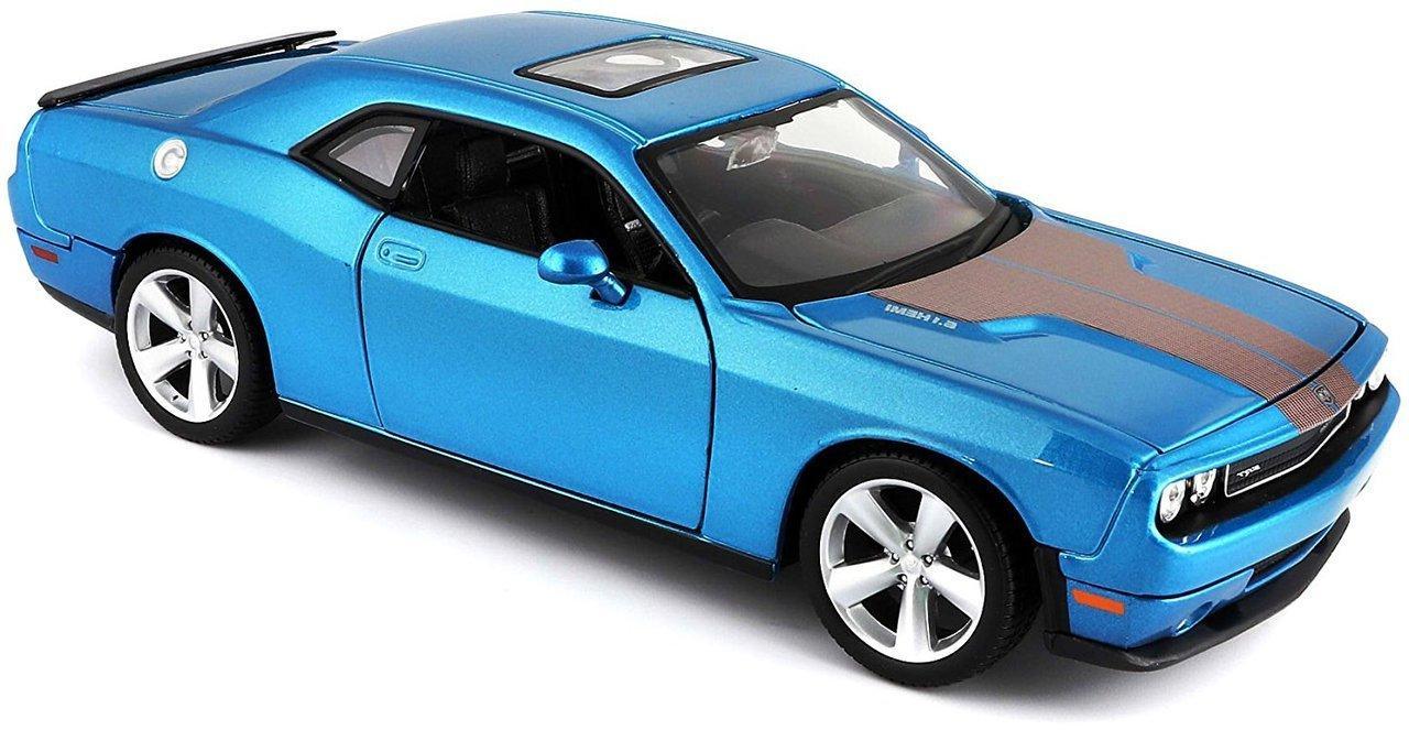 Машинка Maisto голубая   Dodge Challenger