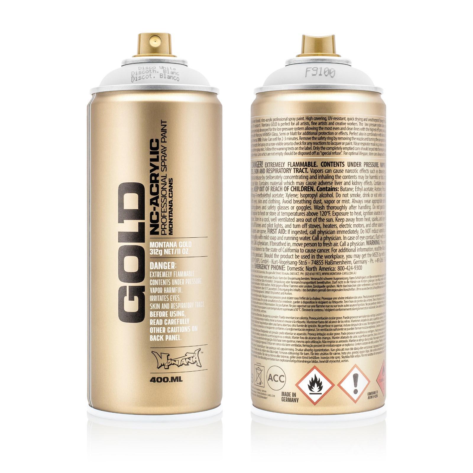 Аэрозольная краска Montana Gold белый флуоресцентный 400 мл