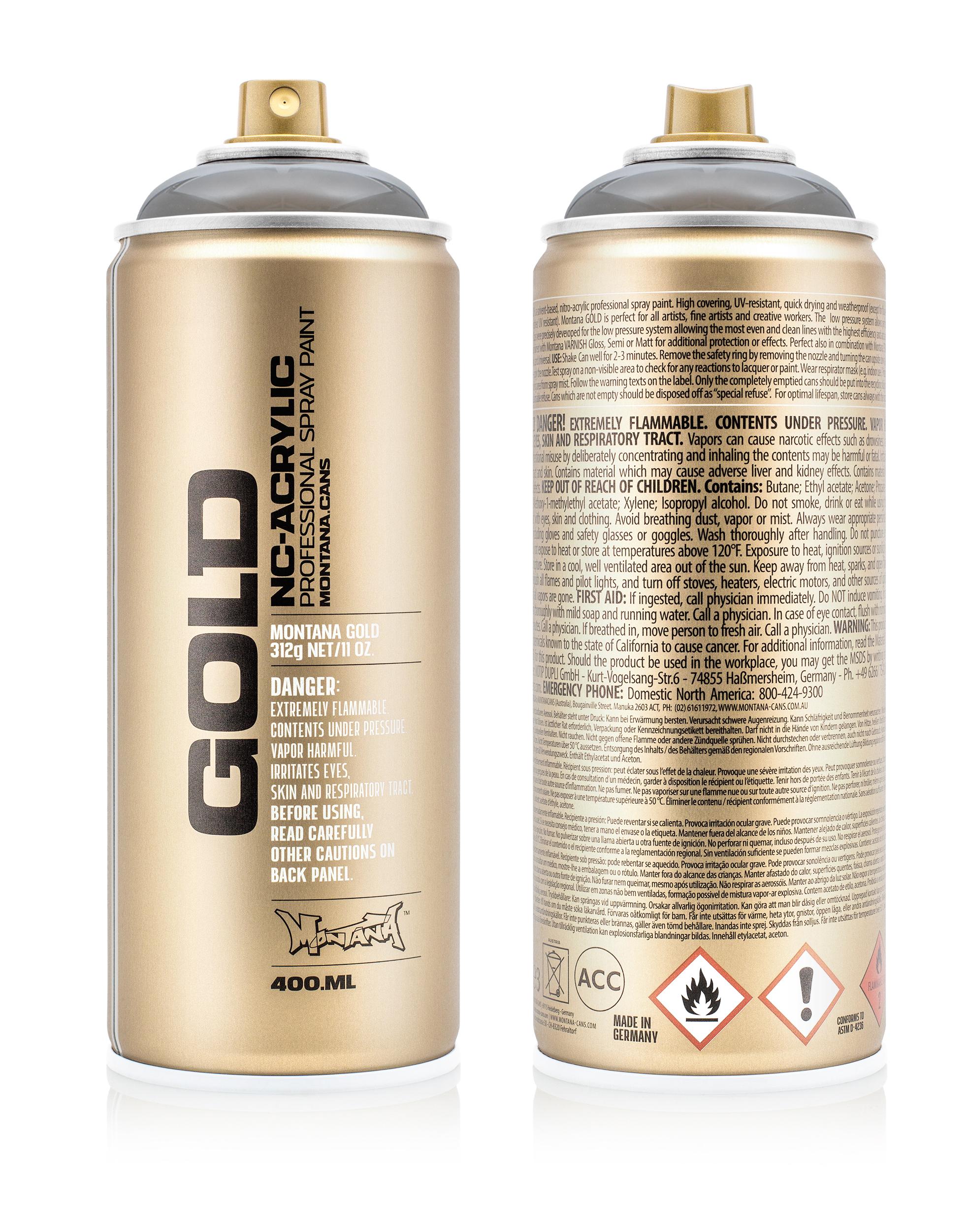 Аэрозольная краска Montana Gold Transparent черный 400 мл