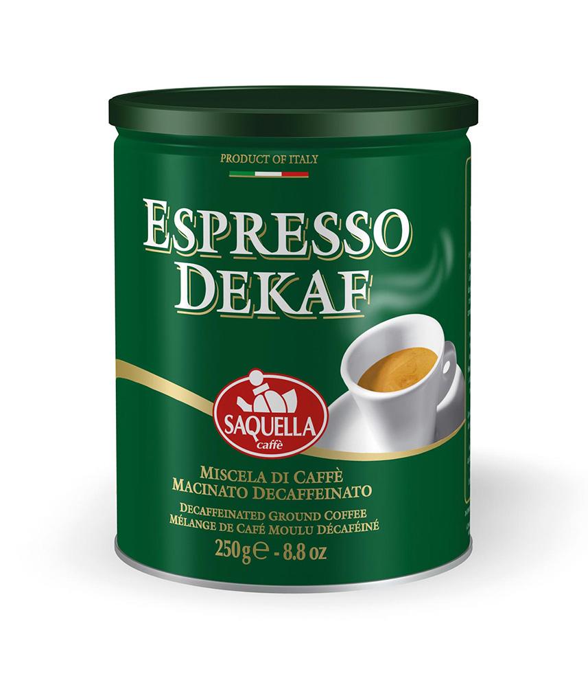 Кофе молотый Saquella без кофеина Espresso Dekaf 250 г