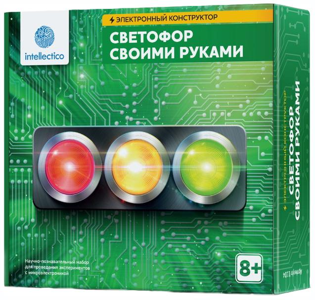 Купить Конструктор электронный Intellectico Светофор своими руками 1104, Детские конструкторы