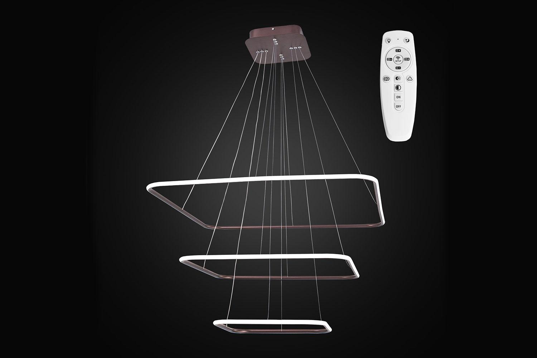 Подвесной светильник CITILUX CL731K115 Неон Кофейный Св-к Люстра LED 110W, с пультом