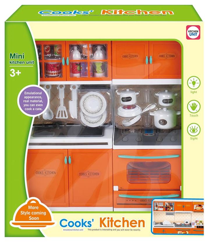 Купить Игровой набор Cooks' Kitchen - Кухня с Посудой (Свет, Звук), Shenzhen Toys, Детская кухня