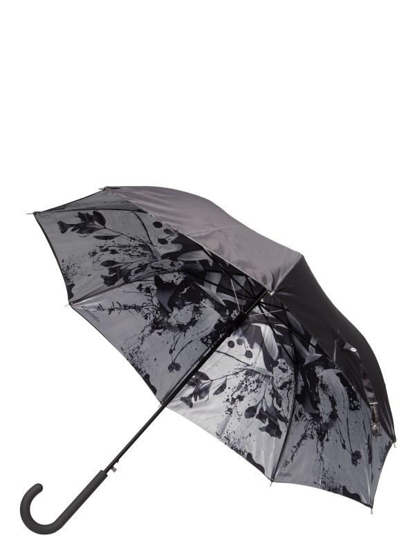 Зонт-трость женский полуавтоматический Eleganzza 01-00029223 серый