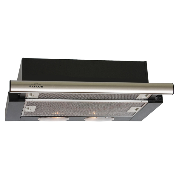 Вытяжка встраиваемая Elikor Интегра 60П-400-В2Л Black/Silver