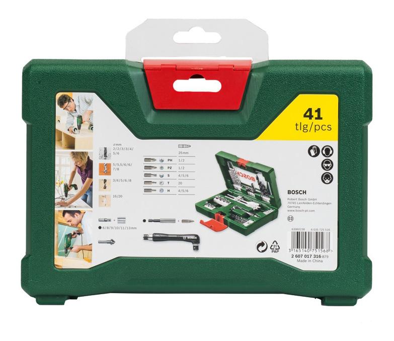 Наборы бит и сверл для дрелей, шуруповертов Bosch V-Line-41 2607017316 набор принадлежностей V-Line-41