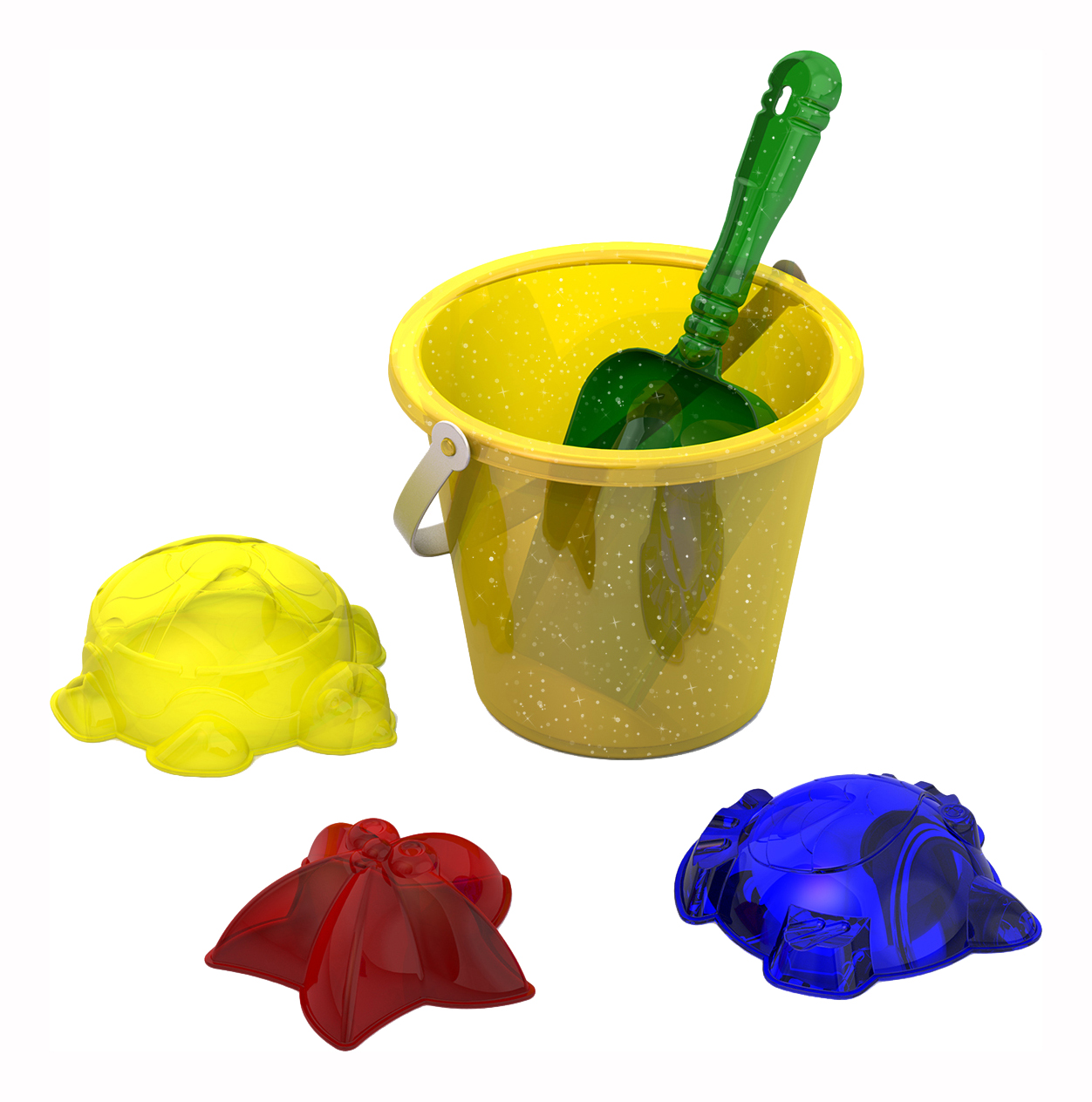 Купить Набор для песка №122, Набор для песка №122 прозрачный (111, 029 (3 шт), 004), НОРДПЛАСТ, Песочные наборы