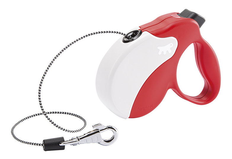 Рулетка-поводок FERPLAST Amigo Mini шнур красно-белая