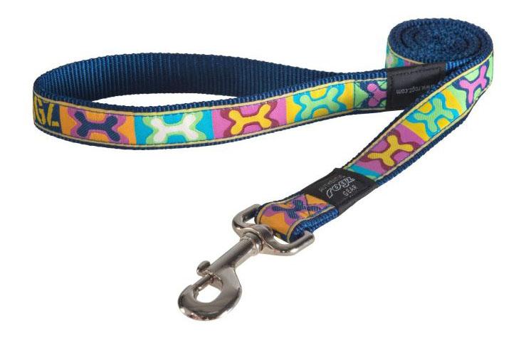 Поводок для собак Rogz Fancy Dress XL-25мм 1,2 м (Многоцветный Поп-Арт HL02BW) фото