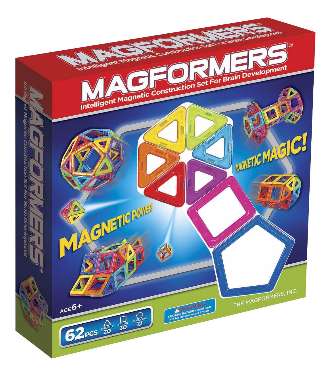 Конструктор магнитный Magformers Магнитный 62 детали фото