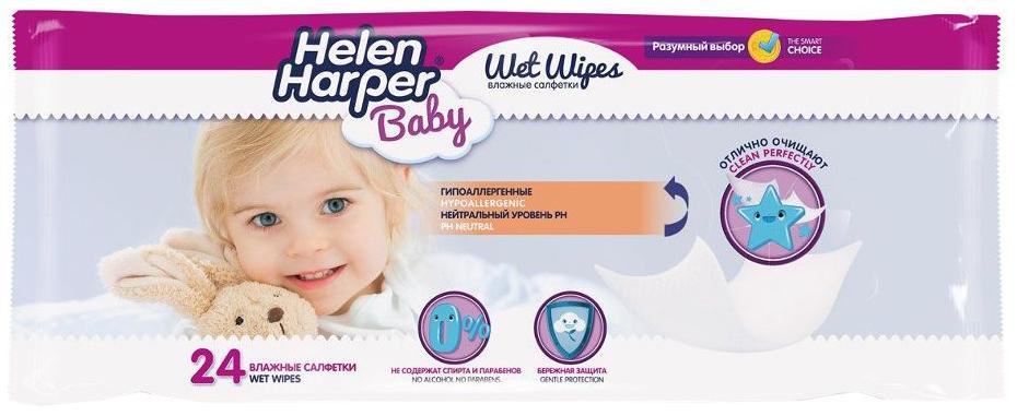Детские влажные салфетки Helen Harper 24 шт.