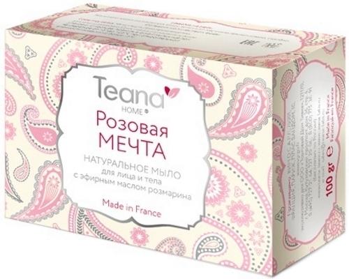 Натуральное мыло TEANA Розовая мечта TH008, 100 гр.
