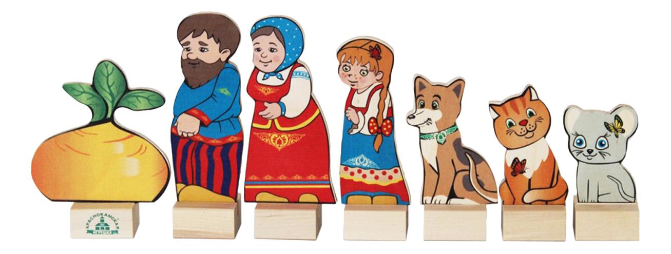 Деревянная игрушка для малышей КРАСНОКАМСКАЯ ИГРУШКА Персонажи сказки Репка