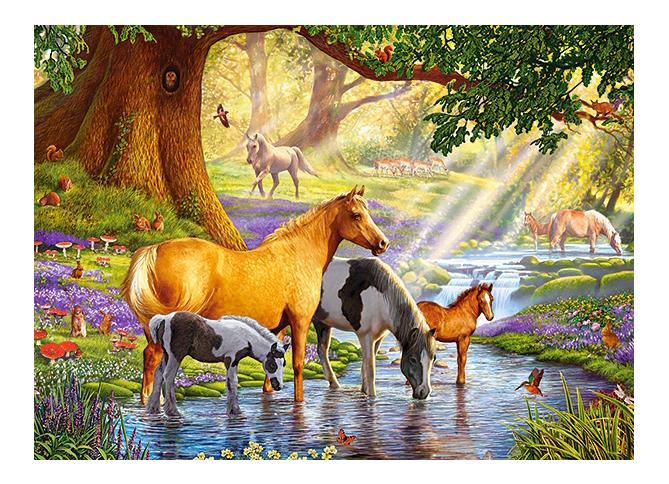 Купить Пазл Castorland Лошади у реки, Пазлы