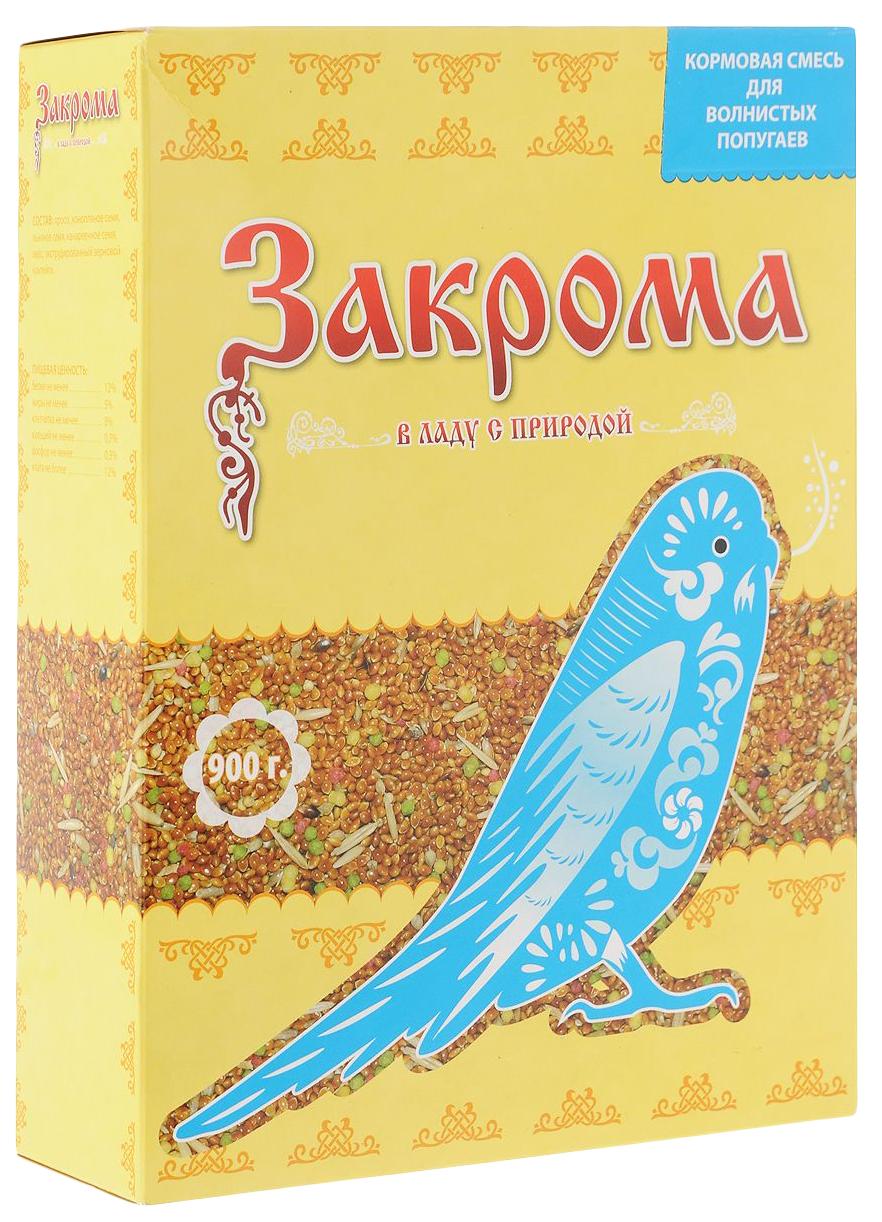 Основной корм Закрома для волнистых попугаев 900 г 1 шт.