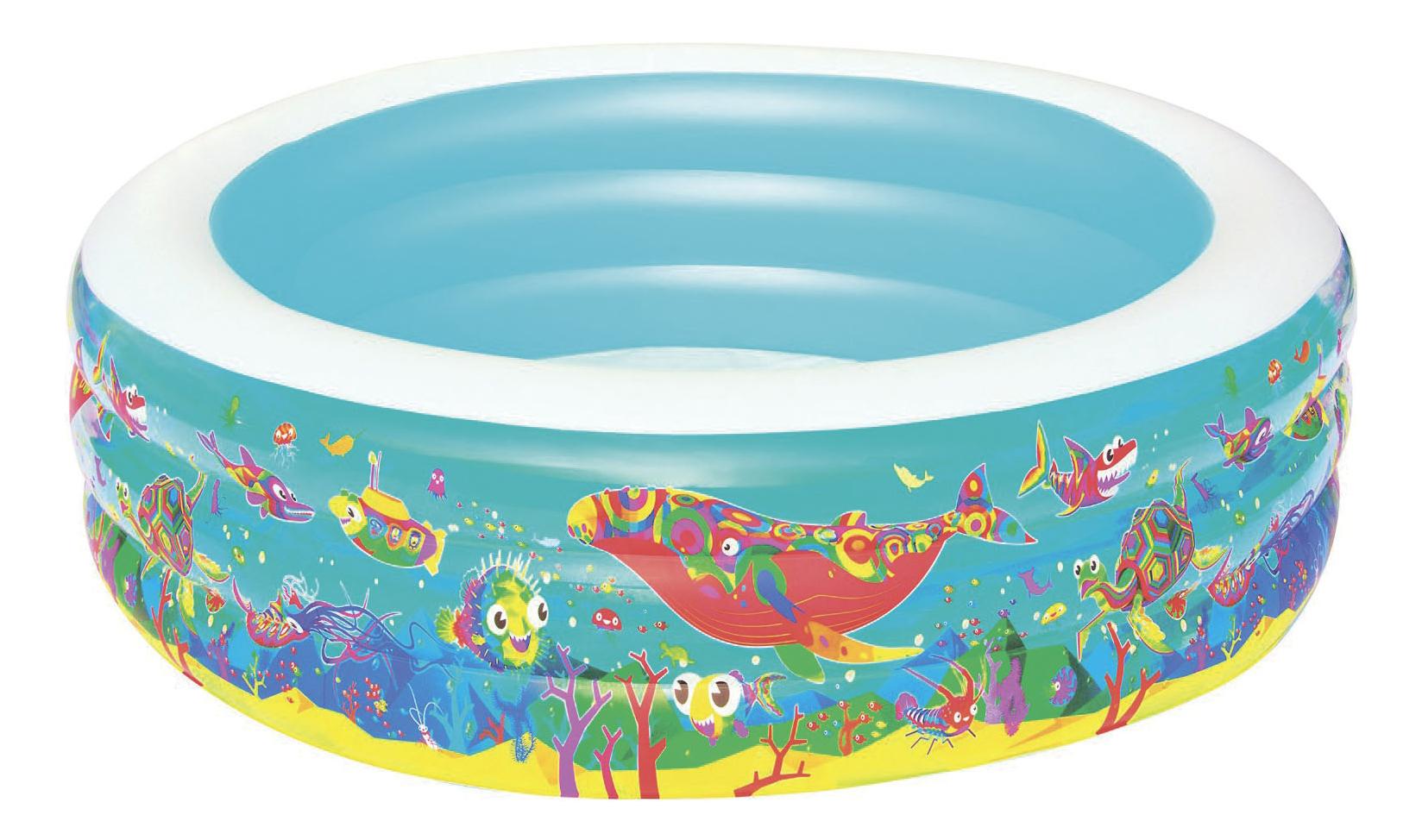 Купить Детский круглый бассейн BestWay 51122 Подводный мир , 196х53 см, Детские бассейны
