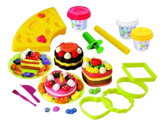 Набор для лепки из пластилина Playgo Пирожные