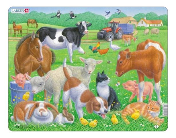 Купить Пазл Обитатели фермы 15 элем. Larsen FH35, Пазлы