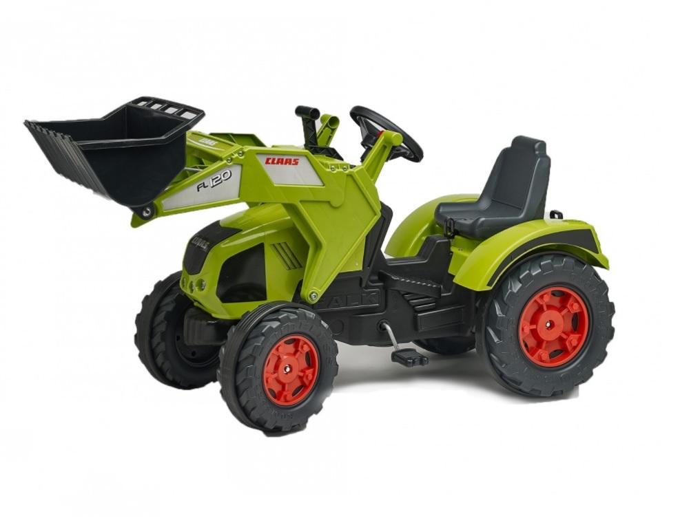 Каталка детская Falk Трактор экскаватор зеленый