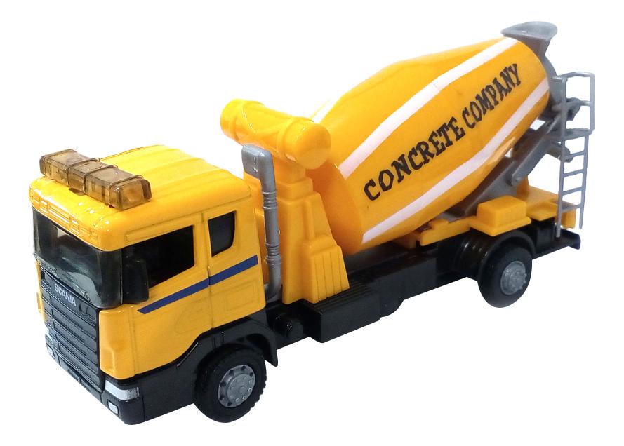 Купить Scania бетономешалка, Машина металлическая scania mixer бетономешалка 1:48 Autotime 9824, Строительная техника