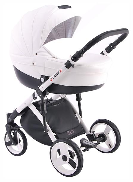Купить Коляска 2 в 1 Lonex Comfort Special Ecco Белый COMF-S-05, Детские коляски 2 в 1