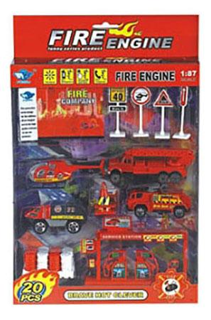 Купить Игровой набор Автомир Пожарная служба 6 Рыжий кот и-4681, Игровые наборы