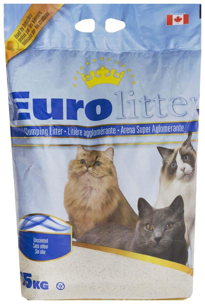 Комкующийся наполнитель для кошек Eurolitter Dust Free