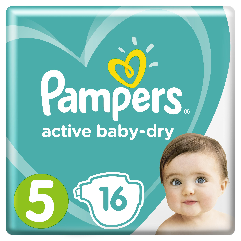 Купить Подгузники Pampers Active Baby-Dry Junior (11-16 кг) 16 шт.,