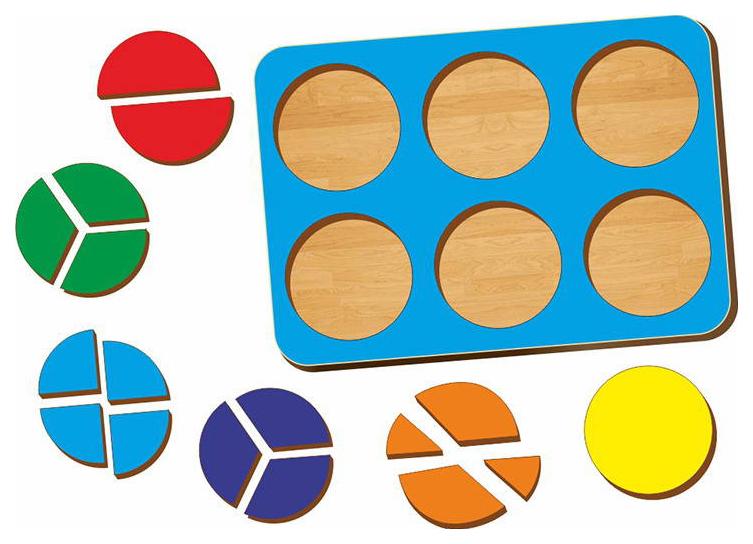 Дроби, Б,П,Никитин, 6 кругов, 240*170 мм фото