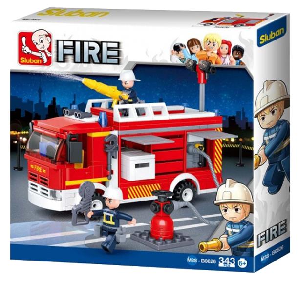 Конструктор Sluban Пожарная машина 343 детали M38-B0626