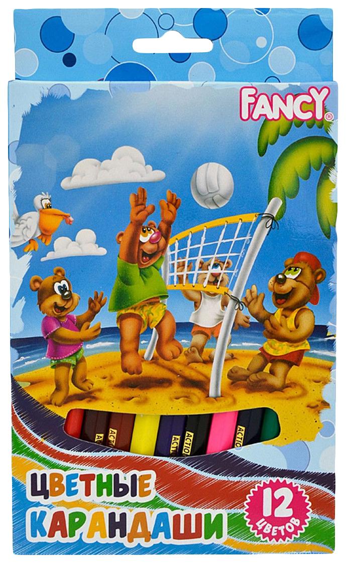 Купить FCP421-12, Карандаши цветные Fancy Набор карандашей 12 цветов, Action!, Цветные карандаши