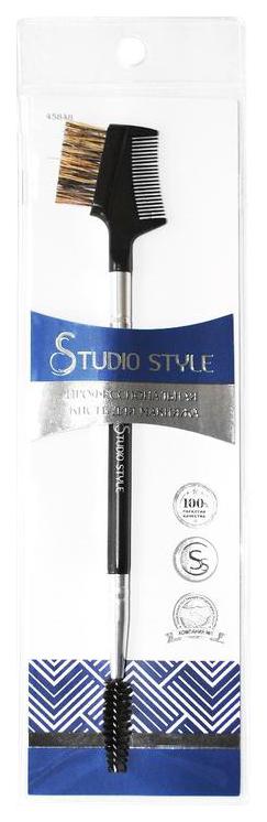 Щеточка расческа для ресниц и бровей Studio