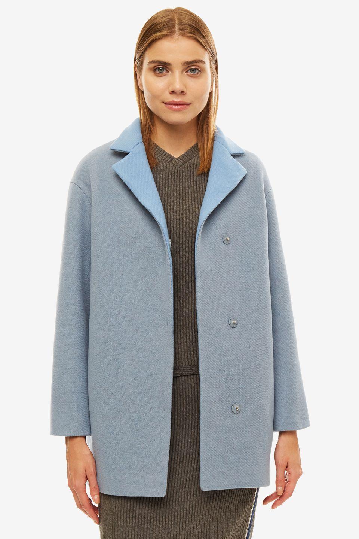Пальто женское SELVAGGIO серое
