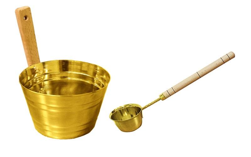 """Подарочный набор для бани """"Латунь"""""""