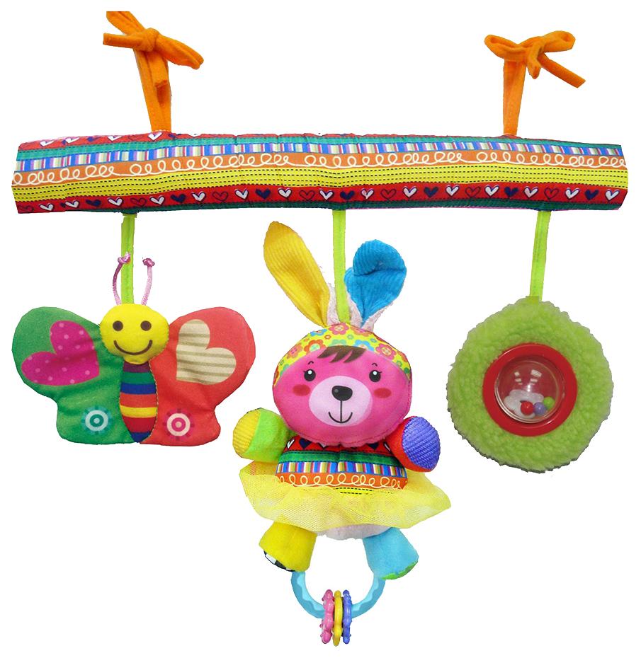 Купить BIBA TOYS Развивающая игрушка подвесная на кроватку СЧАСИВЫЕ ЖИВОТНЫЕ 42x32x41 см HA907,