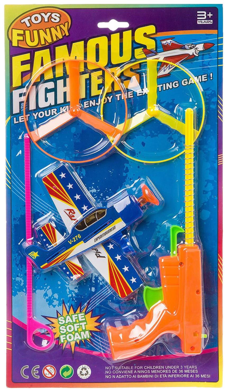 Купить Игрушка пистолет с запускн. самолётиком, CRD, 2 вида, арт. 5887., Shenzhen Toys, Воздушный транспорт
