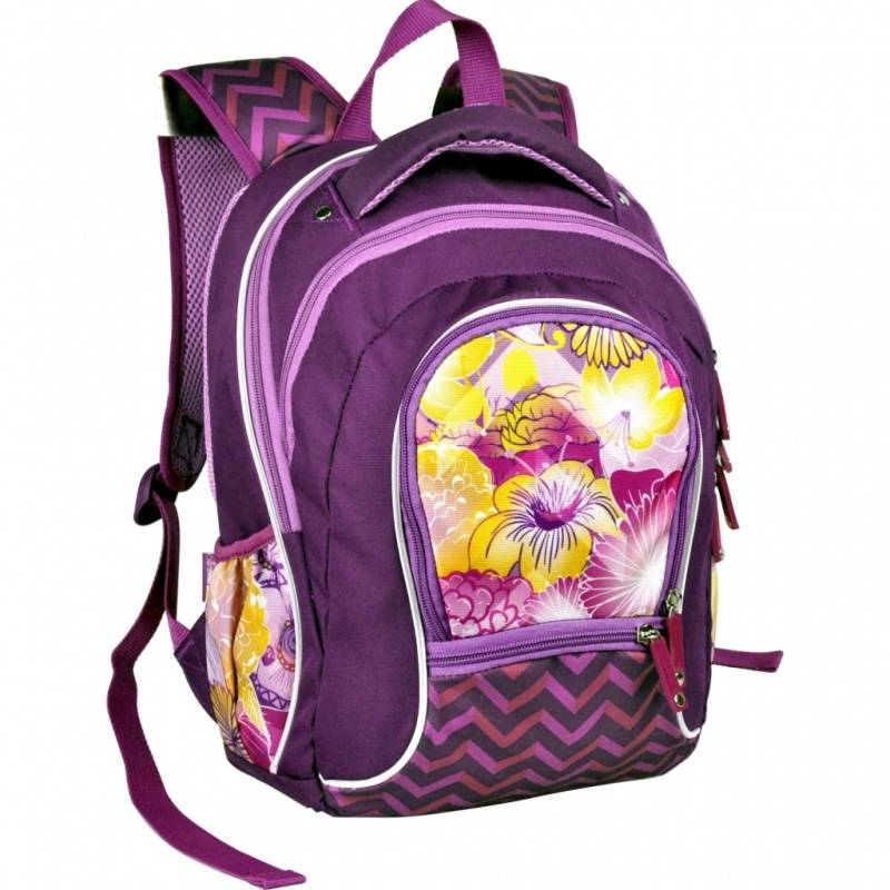 Купить Рюкзак школьный Mistic Flowers Erich Krause для девочек Фиолетовый 39385, ErichKrause, Школьные рюкзаки для девочек