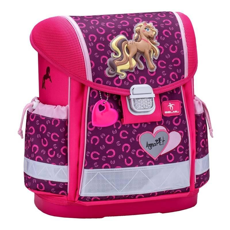 Купить Ранец Classy Anna Pet, Pony Belmil для девочек Розовый 403-13/622 ANNA PET, PONY, Школьные рюкзаки для девочек