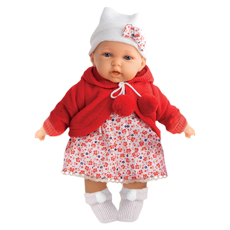 Кукла Munecas Antonio Азалия в Красном 27 см (1220R)