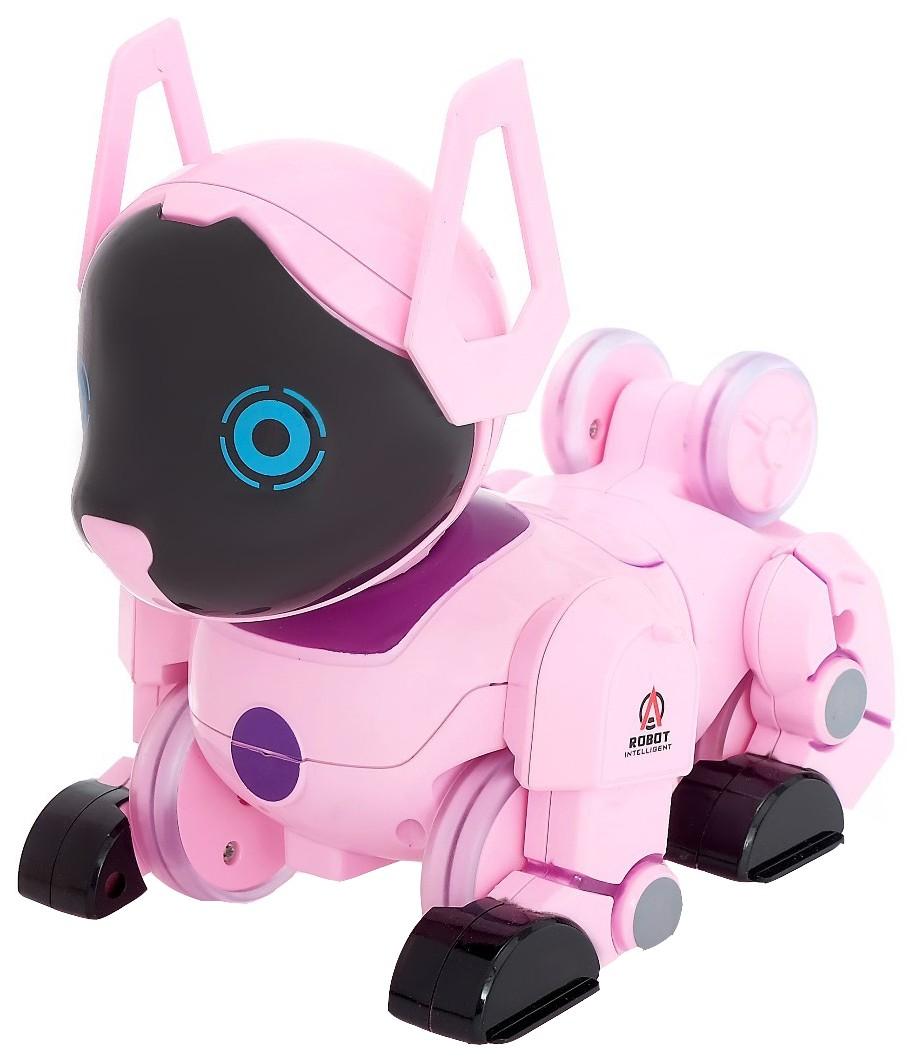 Робот радиоуправляемый Sima-Land Паппи, розовый
