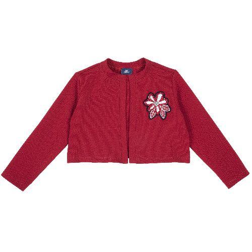 Купить 9096987, Болеро Chicco для девочек р.92 цв.красный, Кофточки, футболки для новорожденных