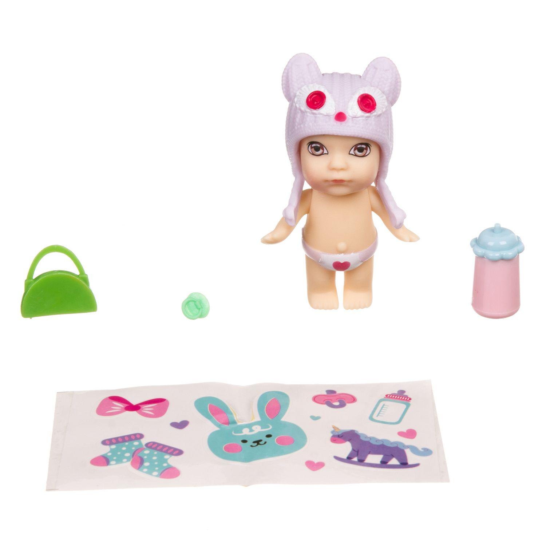 Набор игровой Bondibon куколка OLY в шапочке-ушанке с животным и аксессуарами в шаре