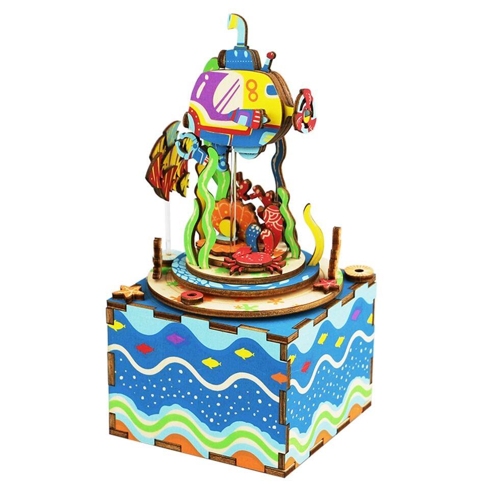 3D деревянный пазл Robotime Музыкальная шкатулка Подводный