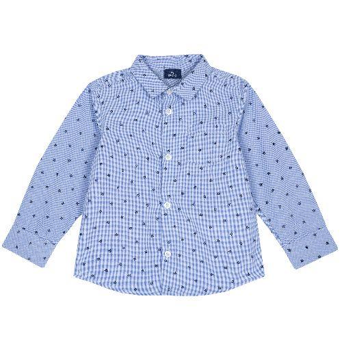 Рубашка Chicco для мальчиков, размер 122, цвет голубой