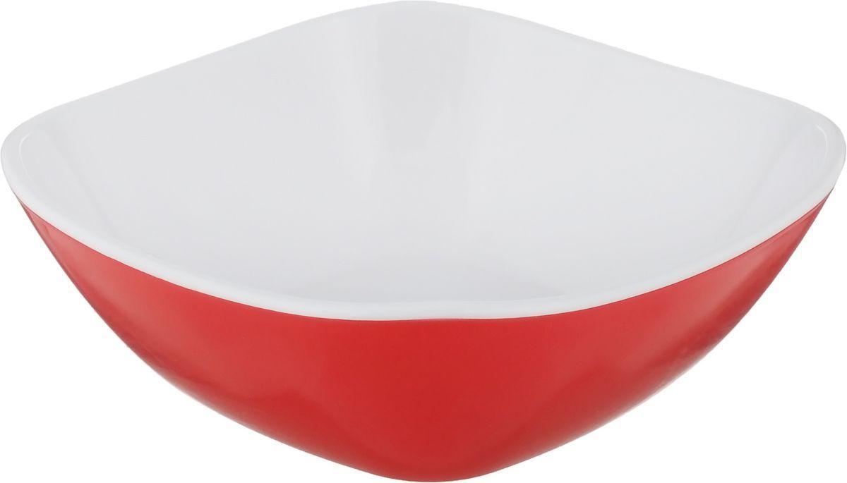 Тима Салатница малая КВАТРО 270мл красная